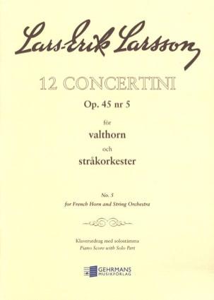 Lars-Erik Larsson - Concertino Opus 45 N ° 5 - Partitura - di-arezzo.es