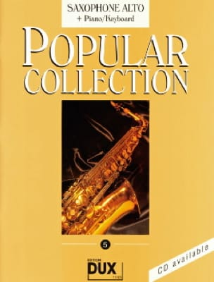 Popular collection volume 5 Partition Saxophone - laflutedepan