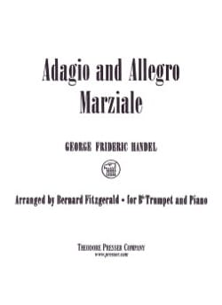 Georg Friedrich Haendel - Adagio And Allegro Marziale - Partition - di-arezzo.fr
