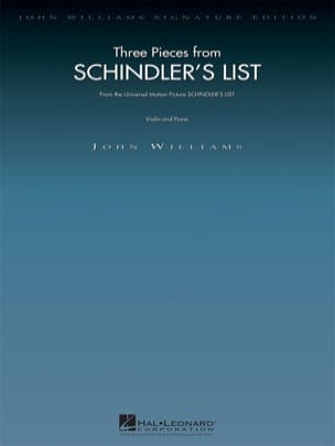 John Williams - 3 Pieces from Schindler's List - Partition - di-arezzo.fr