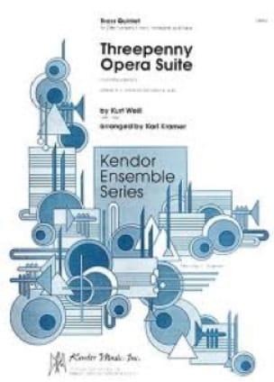 Kurt Weill - Threepenny Opera Suite - Partition - di-arezzo.fr