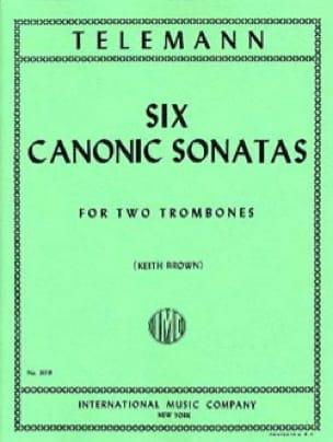 TELEMANN - 6 Canonic Sonatas - Partition - di-arezzo.fr