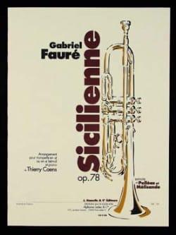 Sicilienne Opus 78 Gabriel Fauré Partition Trompette - laflutedepan