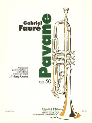 Pavane Opus 50 FAURÉ Partition Trompette - laflutedepan