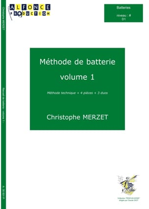 Christophe Merzet - Battery Method Volume 1 - Sheet Music - di-arezzo.com