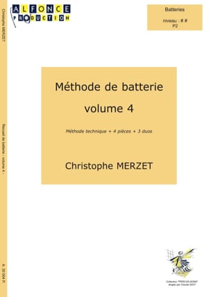 Christophe Merzet - Battery Method Volume 4 - Sheet Music - di-arezzo.com