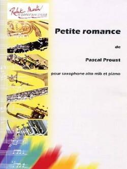 Petite romance Pascal Proust Partition Saxophone - laflutedepan