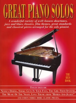 - Great piano solos - The red book - Partition - di-arezzo.fr
