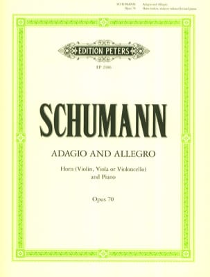 Adagio and Allegro Opus 70 SCHUMANN Partition Cor - laflutedepan