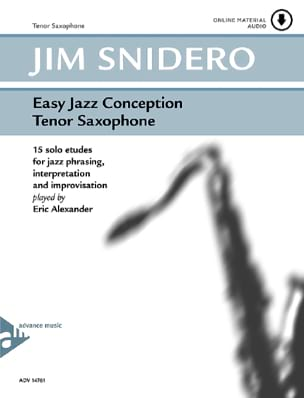 Easy jazz conception - 15 solo etudes Jim Snidero laflutedepan