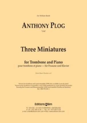 Three Miniatures - Anthony Plog - Partition - laflutedepan.com