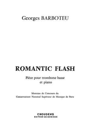 Romantic Flash - Georges Barboteu - Partition - laflutedepan.com