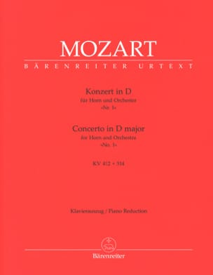 MOZART - Concerto N° 1 In D Major KV 412 + 514 - Partition - di-arezzo.fr