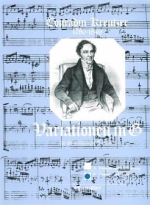 Conradin Kreutzer - Variationen In G - Partition - di-arezzo.fr