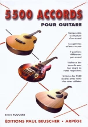 Steve Rodgers - 5500 Chords for Guitar - Sheet Music - di-arezzo.co.uk
