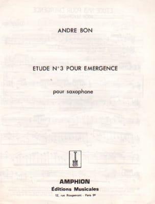 André Bon - Etude N° 3 Pour Emergence - Partition - di-arezzo.fr