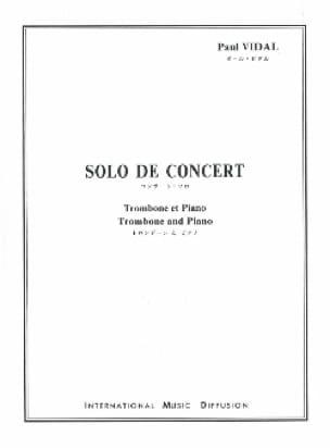 Solo de Concert Paul Vidal Partition Trombone - laflutedepan