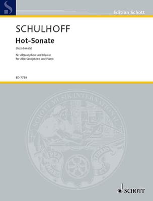 Erwin Schulhoff - Hot-Sonate - Partition - di-arezzo.fr
