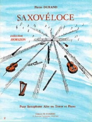 Saxovéloce - Pierre Durand - Partition - Saxophone - laflutedepan.com