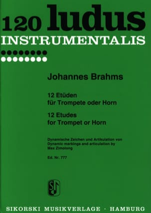 BRAHMS - 12 studies for Trumpet or Horn - Partition - di-arezzo.co.uk