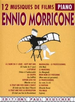 Ennio Morricone - 12 Soundtracks - Sheet Music - di-arezzo.com