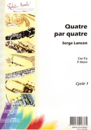 Serge Lancen - Four By Four - Partition - di-arezzo.co.uk