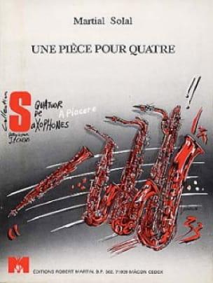 Une Pièce Pour Quatre Martial Solal Partition Saxophone - laflutedepan