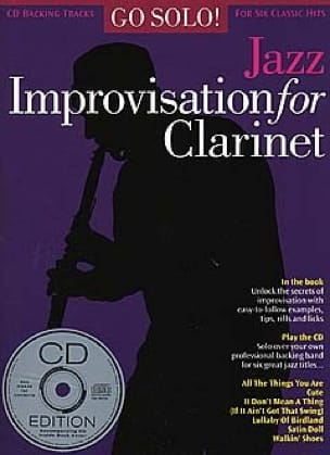 - Go Solo! Jazz Improvisation For Clarinet - Partition - di-arezzo.fr