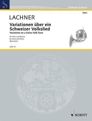 Franz Lachner - Variationen - Partition - di-arezzo.fr