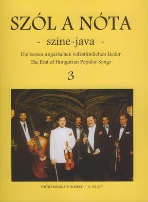 Szol A Nota Szine Java Volume 3 Partition Violon - laflutedepan