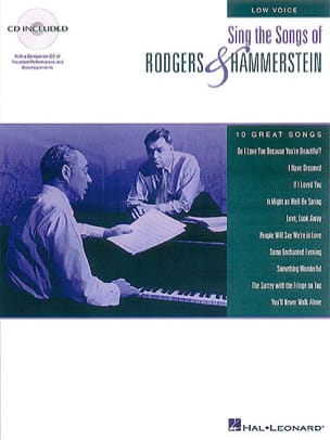 Rodgers & Hammerstein - Sing The Songs Of...Low Voice - Partition - di-arezzo.fr