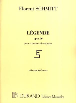 Légende Opus 66 Florent Schmitt Partition Saxophone - laflutedepan