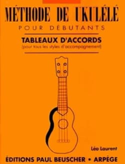 Léo Laurent - Ukulele chord chart method - Sheet Music - di-arezzo.co.uk
