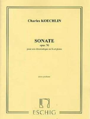 Charles Koechlin - Sonate Opus 70 - Partition - di-arezzo.fr