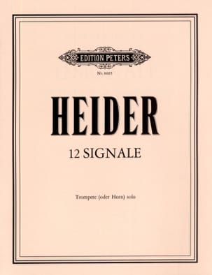 Werner Heider - 12 Signals - Sheet Music - di-arezzo.co.uk