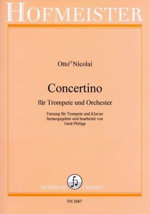 Otto Nicolai - Concertino - Partition - di-arezzo.fr