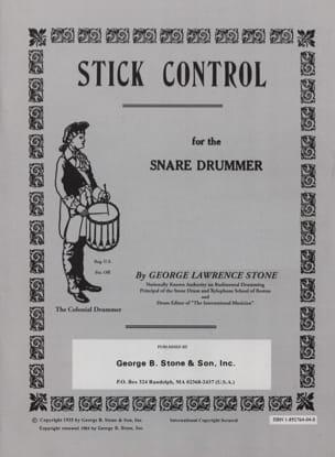 George L. Stone - Stick Control - Partition - di-arezzo.fr