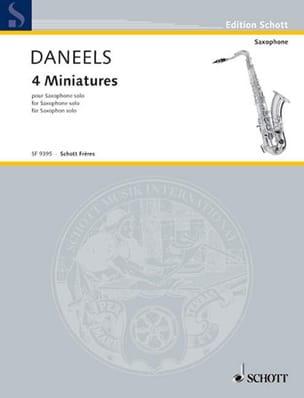 François Daneels - 4つのミニチュア - 楽譜 - di-arezzo.jp
