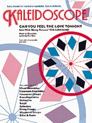 Elton John - Can You Feel The Love Tonight - Kaleidoscope - Partition - di-arezzo.fr