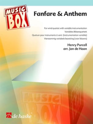 Fanfare & anthem - music box PURCELL Partition laflutedepan