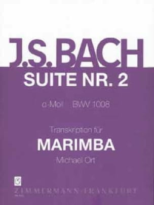 Suite N° 2 D-Moll BWV 1008 BACH Partition Marimba - laflutedepan