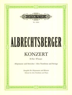 Johann Georg Albrechtsberger - Concerto Bb Major - Partition - di-arezzo.fr