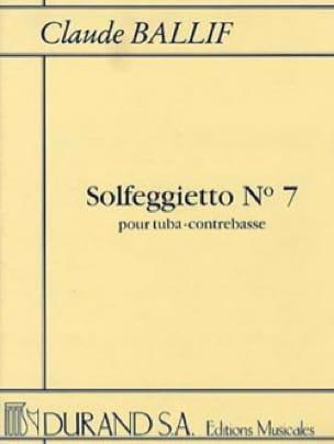 Claude Ballif - Solfeggietto N° 7 - Partition - di-arezzo.fr