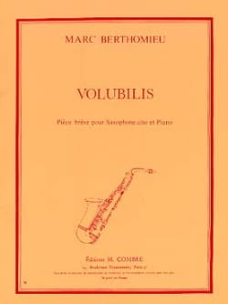 Marc Berthomieu - Volubilis - Sheet Music - di-arezzo.co.uk