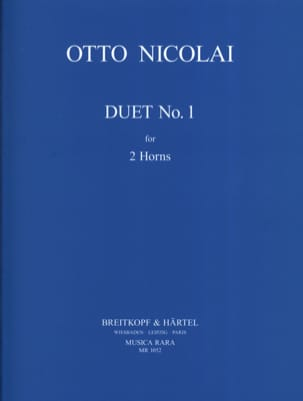 Otto Nicolai - Duet N ° 1 - Sheet Music - di-arezzo.co.uk