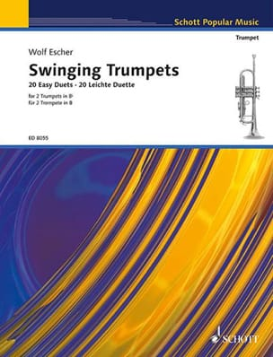 Swinging trumpets - 20 Easy duets Wolf Escher Partition laflutedepan