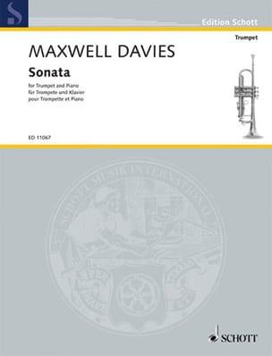 Sonata Davies Peter Maxwell Partition Trompette - laflutedepan