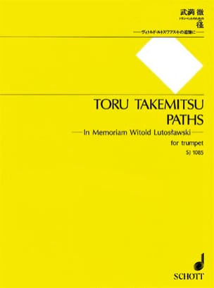 Toru Takemitsu - Paths - Sheet Music - di-arezzo.co.uk