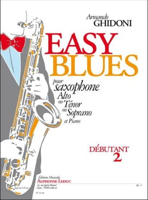 Easy Blues Armando Ghidoni Partition Saxophone - laflutedepan