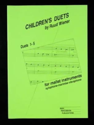 Ruud Wiener - Children's Duets (1-5) - Partition - di-arezzo.fr